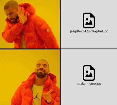 Optimizar imágenes para wordpress - Drake meme