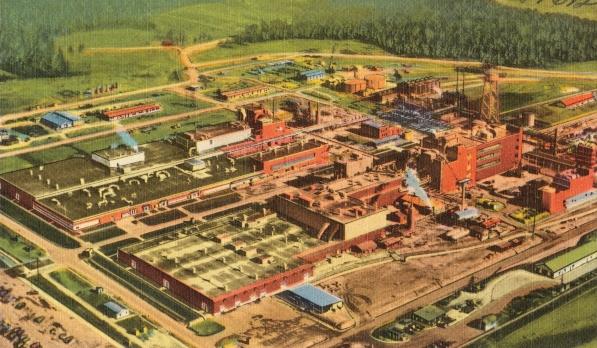 Factoría de DuPont en los años 30