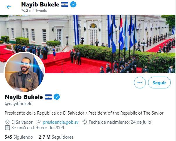 Nayib Bukele - Twitter